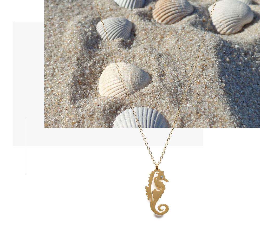 Halskette mit Syltpferdchen-Anhänger
